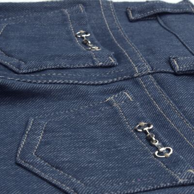 Imagem 2 do produto Calça para bebe feminina em jeans fleece - Mini & Kids - CALF1184 CALÇA AVULSA FLEECE BICICLETINHA-M