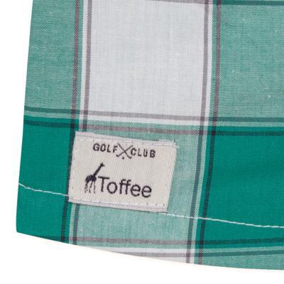 Imagem 3 do produto Macacão Polo para bebe em tricoline Xadrez Verde/Branco - Toffee - 30GP0001.319 MACACÃO M/C GOLA POLO - TRICOLINE-9-12