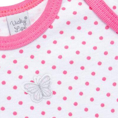 Imagem 2 do produto Body longo para bebe em high comfort Borboletinha - Vicky Lipe - 2044091.305 BODT M/L TRANSP. SUEDINE HC POÁ ROSA-G