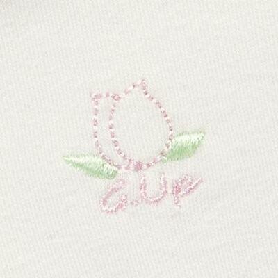 Imagem 5 do produto Kit 2 Bodies longos para bebe em suedine Marfim Florale - Grow Up - 09100097.0004 KIT BODIES FLOWERS ML CREME-G