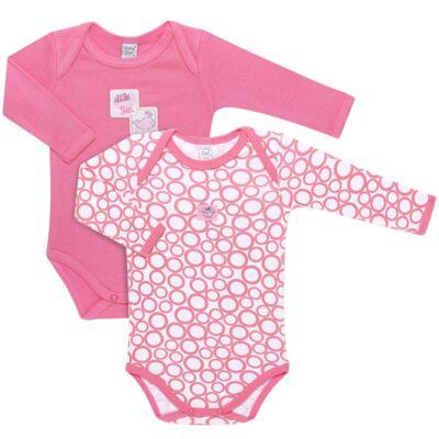 Imagem 1 do produto Pack 2 Bodies longos para bebe em high comfort Cute Whale - Vicky Lipe - 20471334 PACK BODY ML MALHA BALEIA-RN