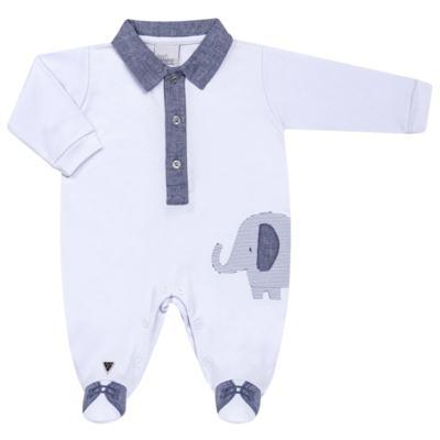 Imagem 1 do produto Macacão longo para bebe em suedine Elephant - Anjos Baby - AB163133-001 MACACAO LONGO MASC T15-P