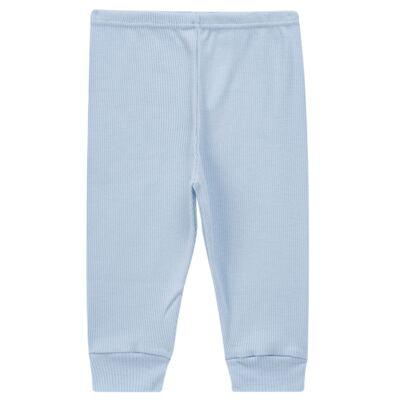 Imagem 3 do produto Pijama longo para bebe canelado Azul - Dedeka - DDK0840/25 Conjunto Canelado Azul-2