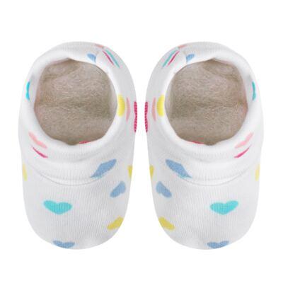 Imagem 2 do produto Kit c/ Touca, Luva e Sapatinho para bebe em malha Corações - Pingo Lelê