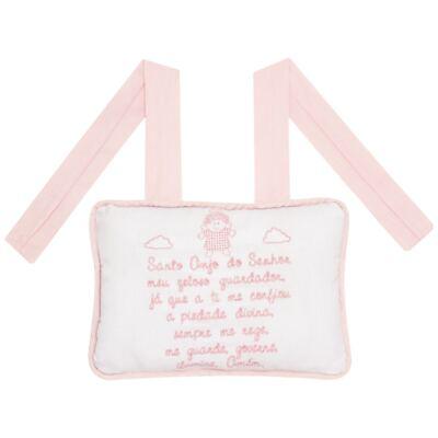 Imagem 2 do produto Almofada Santo Anjo para bebe em piquet Rosa - Classic for Baby