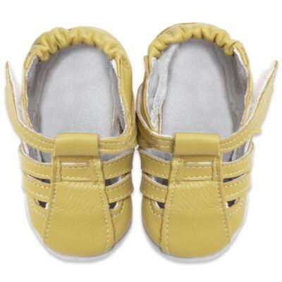Imagem 2 do produto Sandália para bebe c/ velcro em couro Eco Amarelo - Babo Uabu - BABO39 Sandalia Tiras Amarela-6-12 meses