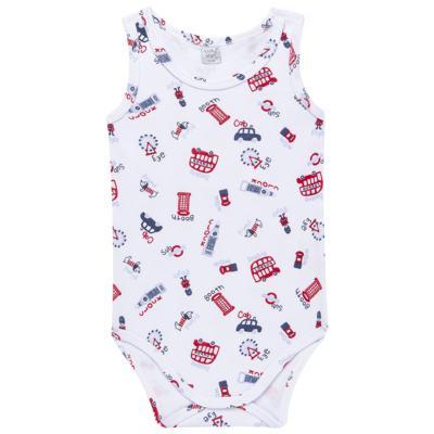 Imagem 1 do produto Body regata para bebe em suedine British - Vicky Lipe - 01090001.35 BODY REGATA - SUEDINE-G