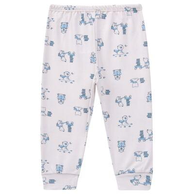 Imagem 4 do produto Pijama longo para bebe em suedine Smart Bear - Dedeka - DDK16563/E110 Pijama Suedine Urso Azul-G