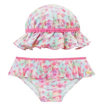 Imagem 1 do produto Conjunto de banho Aquarelle: Biquini + Chapéu - Dedeka - DDK16400 Calcinha e Chapéu Aquarelle -2