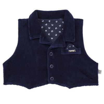 Imagem 3 do produto Macacão longo c/ Colete para bebe em plush Benicio - Beth Bebê - BB8919 Macacão Colete Benicio Azul-P