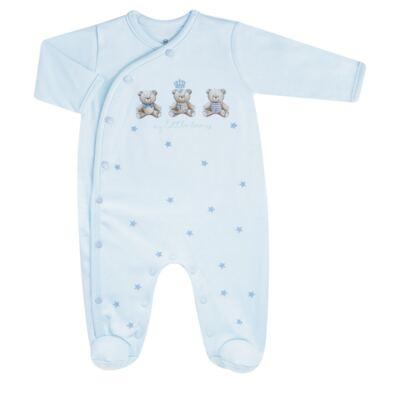 Imagem 2 do produto Jogo Maternidade com Macacão e Manta para bebe em algodão egípcio c/ jato de cerâmica Prince Bear - Mini & Classic