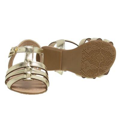 Imagem 2 do produto Sandália em couro Dourada - Lupie - LP12.14 IPANEMA DOURADO-16