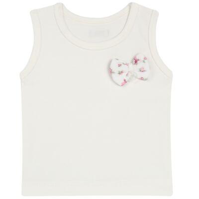 Imagem 2 do produto Regata com Cobre fralda  para bebe em suedine Florale - Grow Up - 04070049.0004 RGTA C/ FRALDA FLOWERY CREME -P