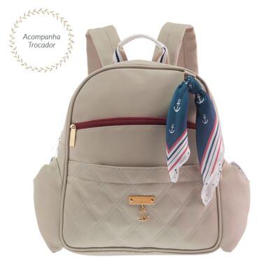 Imagem 1 do produto Mochila maternidade Palermo Náutica Marfim - MasterBag