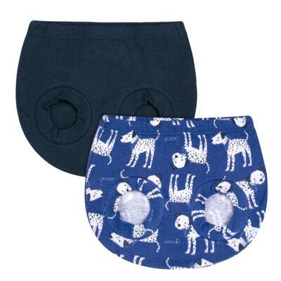 Imagem 1 do produto Pack Dalmatians Blue: 02 Cobre Fraldas em high comfort  - Vicky Lipe - 10220001.37 PACK 2 COBRE FRALDAS - SUEDINE-G
