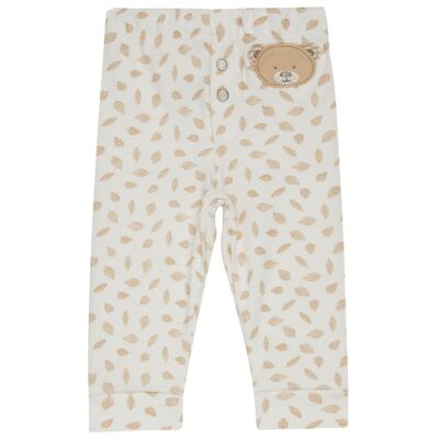 Imagem 1 do produto Calça para bebe em algodão egípcio c/ jato de cerâmica e filtro solar fps 50 Nature Little Friend Bear  - Mini & Kids - CLAV0001.19 CALÇA AVULSA - SUEDINE-GG