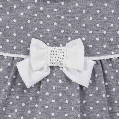 Imagem 2 do produto Macacão longo para bebe em suedine Petit Pois - Anjos Baby - AB171064.032 MACACAO LONGO FEM. T07-RN