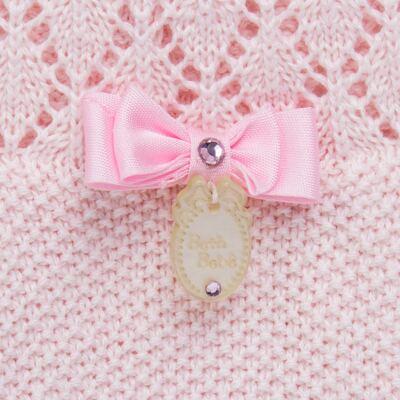 Imagem 4 do produto Jogo Maternidade para bebê: Body longo + Calça + Vestido + Manta em tricot Annie - Beth Bebê