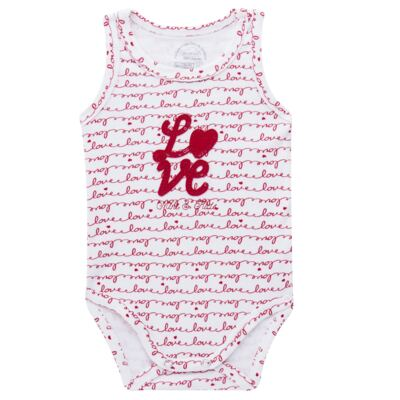 Imagem 1 do produto Body regata para bebe em algodão egípcio c/ jato de cerâmica e filtro solar fps 50  Sweet Love - Mini & Kids - BDR0005.86 BODY REGATA - SUEDINE LOVE-P