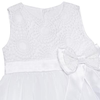 Imagem 2 do produto Vestido para bebê em organza Laço Branco - Sylvaz - SZ1064 VESTIDO BATIZADO REGATA LAÇO BRANCO-M