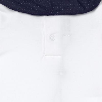 Imagem 5 do produto Jardineira com Body longo para bebe em tricot Love Sailor - Mini Sailor - 17354443 Jardineira Longa c/ Body Tricot Vermelho-0-3