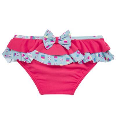 Imagem 2 do produto Conjunto de banho Sweet Candy: Biquini + Chapéu - Dedeka - DDK17433/L17 Calcinha e Chapeu Rosa Pink-2