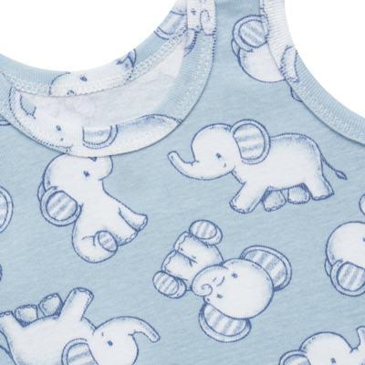 Imagem 5 do produto Pack Elefantinho: 02 regatas em high comfort - Vicky Baby - 1021-713 ELEF AZUL PK 2 RGT BEBE SUED HIGH-G