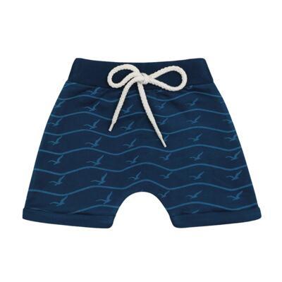 Imagem 3 do produto Camiseta com Bermuda para bebe California azul - Time Kids - TK5112.AZ CONJUNTO CAMISETA C/SHORTS PARADISE AZUL-M