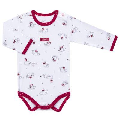 Imagem 2 do produto Kit Maternidade para bebe Noblesse: Body longo + Calça (mijão) + Naninha em suedine - Dedeka - DDK16062 Kit Body Longo com Calça e Naninha Noblesse-M