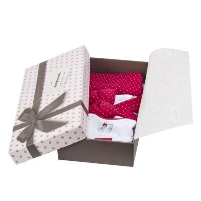 Imagem 7 do produto Kit Maternidade para bebe Noblesse: Body longo + Calça (mijão) + Naninha em suedine - Dedeka - DDK16062 Kit Body Longo com Calça e Naninha Noblesse-M