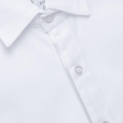 Imagem 4 do produto Jardineira Gravata e Boné para bebe em tricoline Branca - Sylvaz - SZ361 CONJUNTO CURTO C/ GRAVATA BORBOLETA E CHAPÉU BRANCO-G