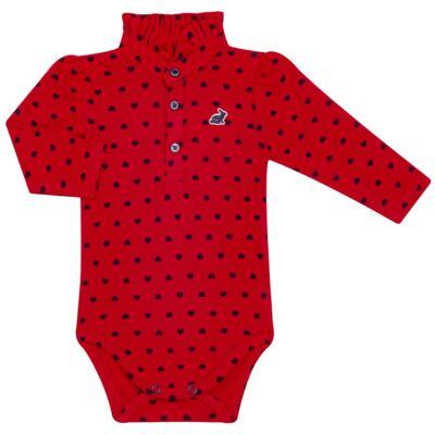 Imagem 1 do produto Body Polo para bebe com gola frufru em piquet Petit Couer - Missfloor - 03GP0002.311 BODY POLO M/L C/ GOLA FRUFRU - PIQUET-3-6