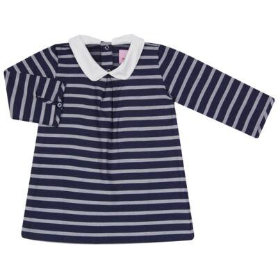 Imagem 1 do produto Vestido c/ golinha em tricoline College - Missfloor - 12CG0001.365 VESTIDO COM GOLA TRICOLINE MARINHO-3