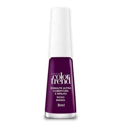 Imagem 2 do produto Esmalte Ultra Brilho e Longa Duração Color Trend 8ml - Esmalte Ultra Brilho e Longa Duração Color Trend 8ml - Roxo Mania