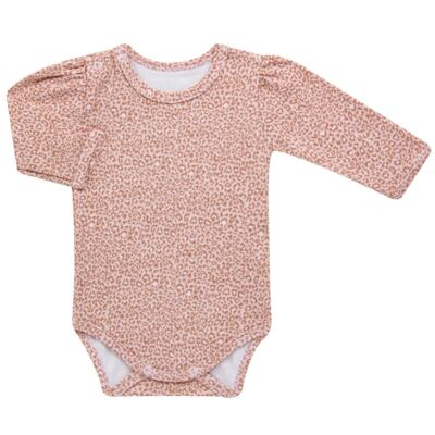 Imagem 4 do produto Kit 2 Bodies longos para bebe em suedine Leopard Print - Grow Up - 09100095.0002 KIT 2 BODIES PRINCESS ML ROSA-P