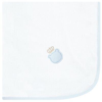 Imagem 1 do produto Cueiro para bebe em flanela Ursinho Azul bebê - Classic for Baby