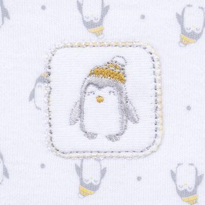 Imagem 3 do produto Macacão longo para bebe em algodão egípcio Penguin - Piu-Piu - PIU912025.001 MACACÃO COMP. PINGUIM -M