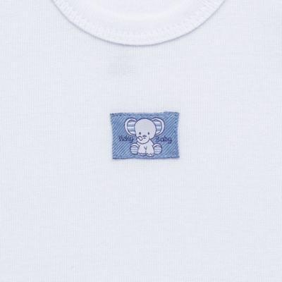Imagem 3 do produto Pack Elefantinho: 02 regatas em high comfort - Vicky Baby - 1021-713 ELEF AZUL PK 2 RGT BEBE SUED HIGH-PP