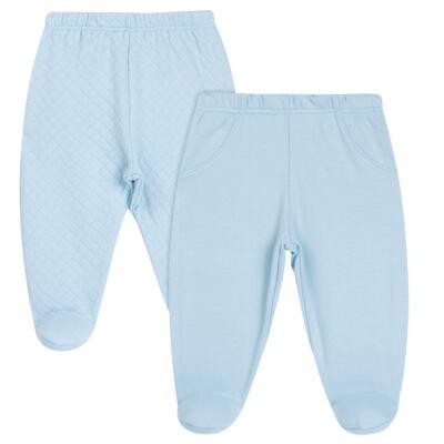 Imagem 1 do produto Pack 2 mijões para bebe em suedine Azul Matelassê - Grow Up - 09140052.0003 KIT CALÇAS BEAR FRIEND AZUL-P