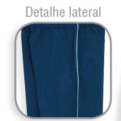 Imagem 3 do produto Pijama longo para bebe em suedine Little Fish - Dedeka - DDK18204/L08 PIJAMA MEIA MARINHO -3