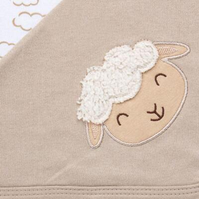 Imagem 6 do produto Jogo Maternidade com Macacão e Manta para bebe em malha Ovelhinha - Pingo Lelê - PL65721 KIT PRESENTE MACACAO E MANTA OVELINHA-RN