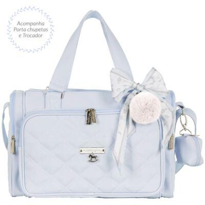 Imagem 3 do produto Mala maternidade com Rodízio + Bolsa Anne + Bolsa térmica organizadora + Mochila Soldadinho Azul - Masterbag