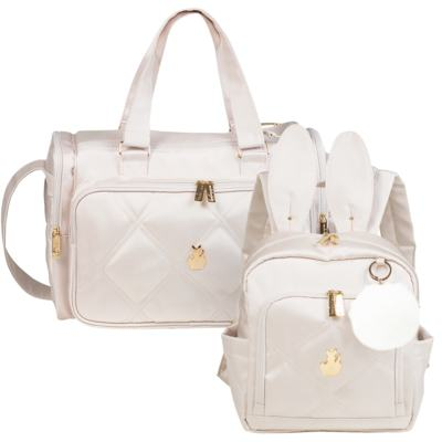 Imagem 1 do produto Bolsa para bebe Anne + Mochila Bunny Classic Off White - Masterbag