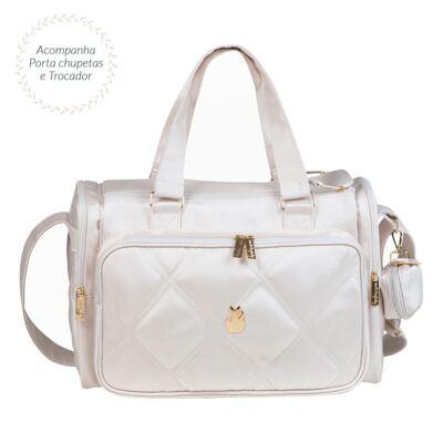 Imagem 2 do produto Bolsa para bebe Anne + Mochila Bunny Classic Off White - Masterbag