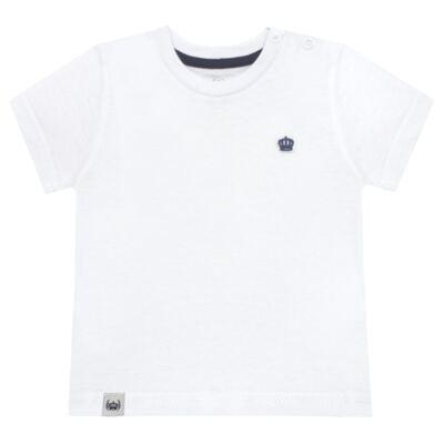 Imagem 1 do produto Camiseta em malha Branca  - Baby Classic - 673998 CAMISETA MC MALHA BRANCO-M