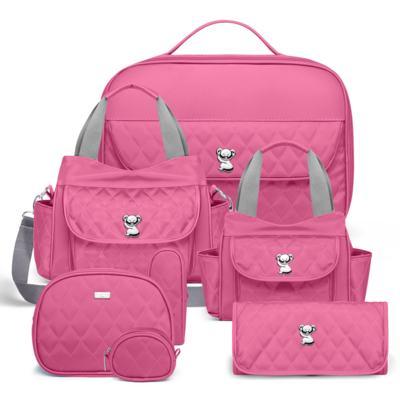 Imagem 1 do produto Kit Mala Maternidade para bebe + Bolsa Havana + Frasqueira Térmica Aruba + Kit Acessórios + Trocador Portátil Colors Pink - Classic for Baby Bags