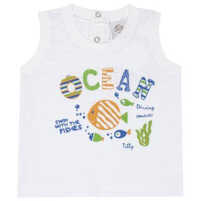 Imagem 2 do produto Regata c/ Bermuda em tactel Ocean - Tilly Baby - TB166308 CONJ MASC TACTEL OCEAN -1