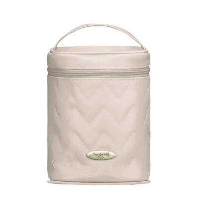 Imagem 4 do produto Mala Maternidade para bebe + Bolsa Gênova + Frasqueira Térmica Firenze Chevron Ágata - Classic for Baby Bags