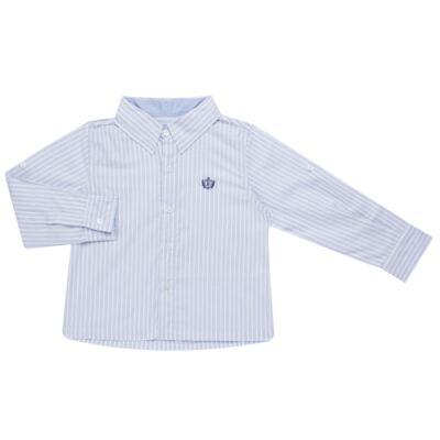 Imagem 1 do produto Camisa para bebe em tricoline Stripes - Bibe - 38N02-G70 CAMISA MASC ML -1