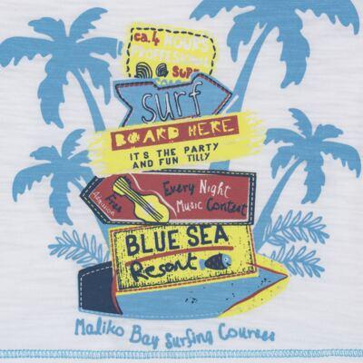 Imagem 3 do produto Camiseta c/ Bermuda em malha Maverick - Tilly Baby - TB166303 CONJ MASC TACTEL COQUEIROS-2